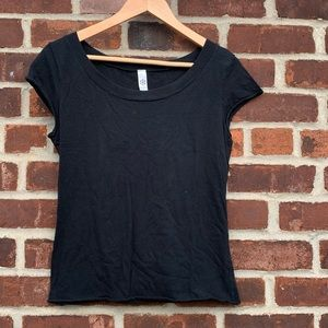 American apparel wide neck sleeveless t.